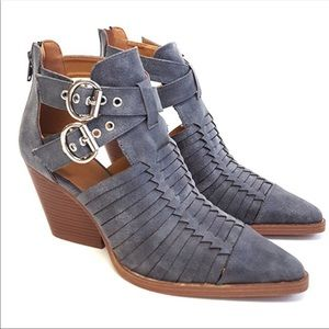 Shoes - ONE SIZE 7 LEFT! Vegan Suede Gray Ankle Boots